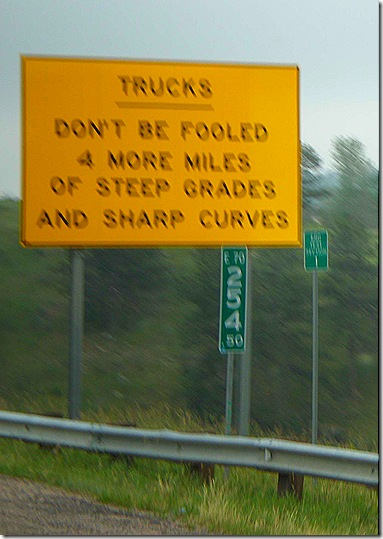 Truck dont be fooled sign