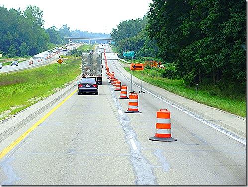 Road construction on US 31 Michigan