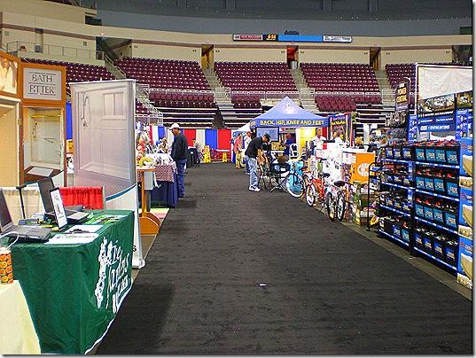 Empty aisle 7 pm