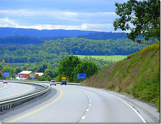 US 322 downhill
