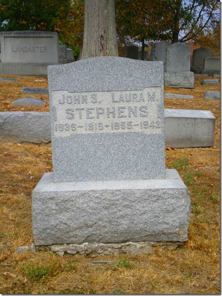 John Laura Stephens Headstone 2