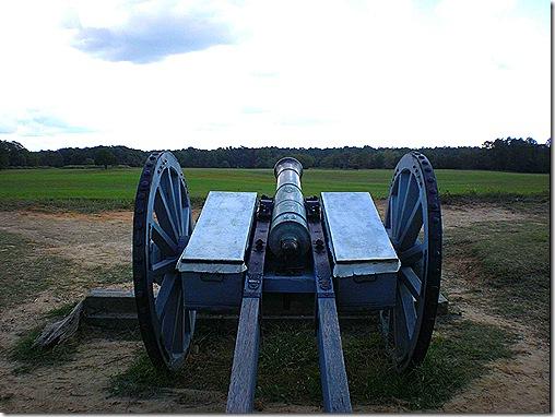 Yorktown cannon view 2