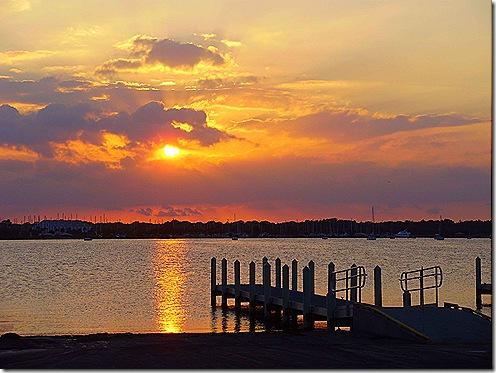 Titusville sunset dock