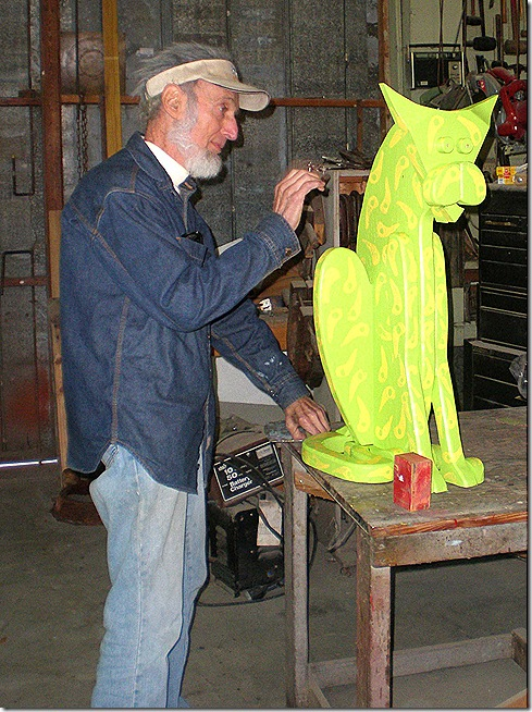 Howard and sculpture