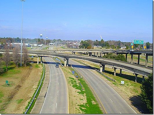 Baton Rouge looking down
