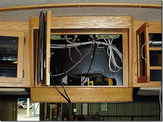 Front cabinet door open