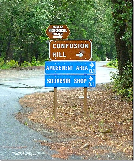 Confusion Hill sign