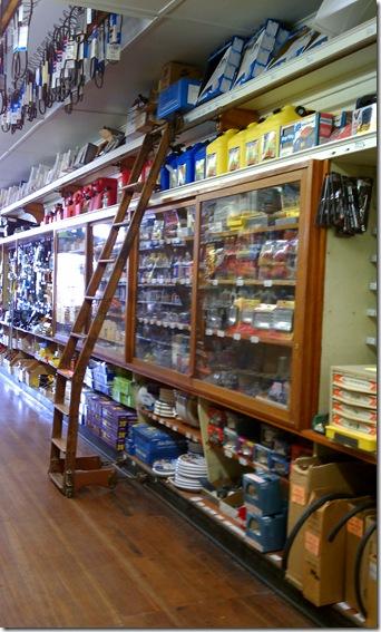 Hardware aisle ladder