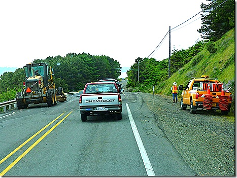 Highway 101 construction zone 3
