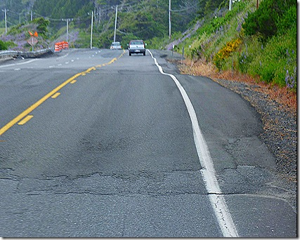 Highway 101 rough road hump