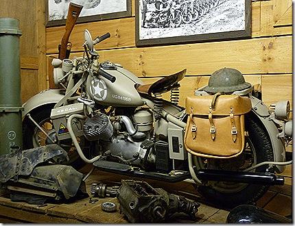 Army Harley display