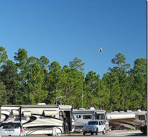 Blimp over campgraound 2