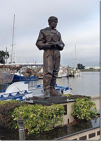 Sponge diver statue