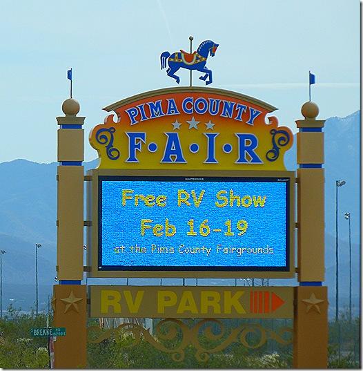 Pima fairgrounds sign