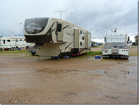 Fairgrounds RV park rain 3