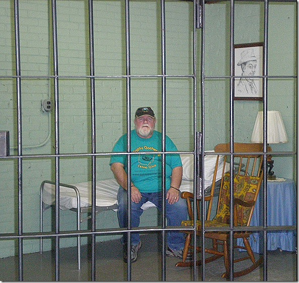 Nick in Otis jail cell