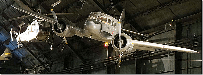 Museum suspended twin engine