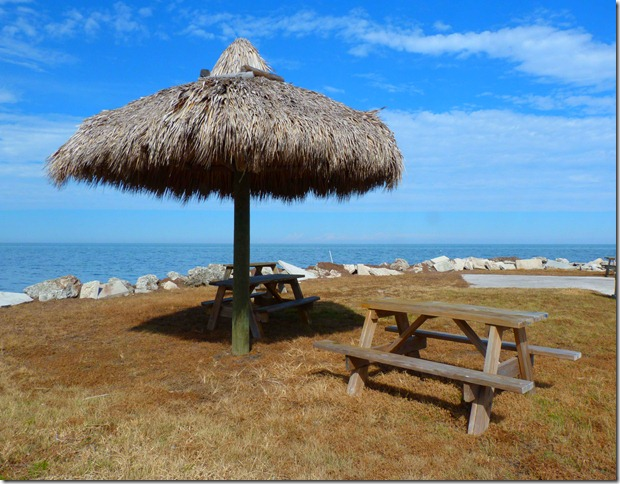 Waterfront cabana
