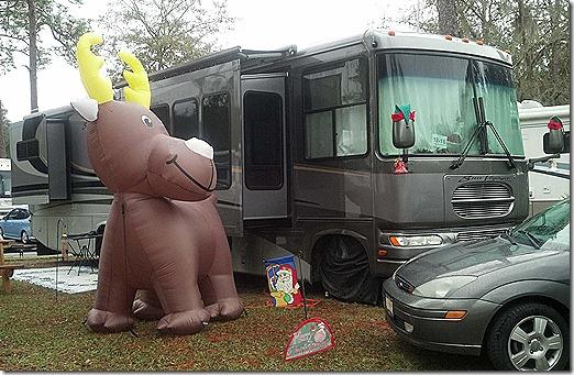 Blow Up Reindeer