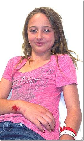 Hailey in hospital