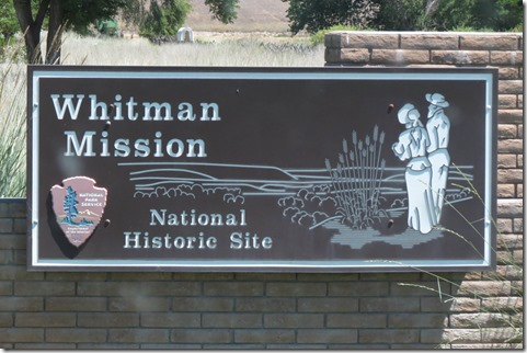 Whitman Mission sign