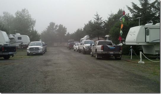 Foggy campground