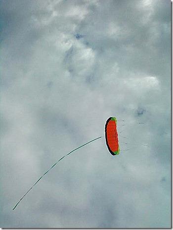 Kite sideways