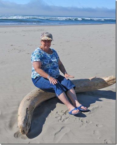 Patty on beach