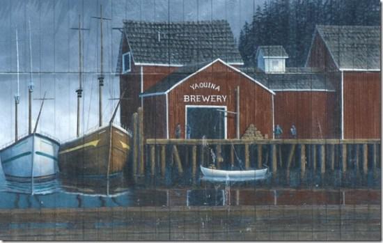 Yaquina brewery mural