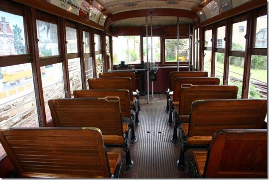 Fort Smith Trolley Museum trolley inside