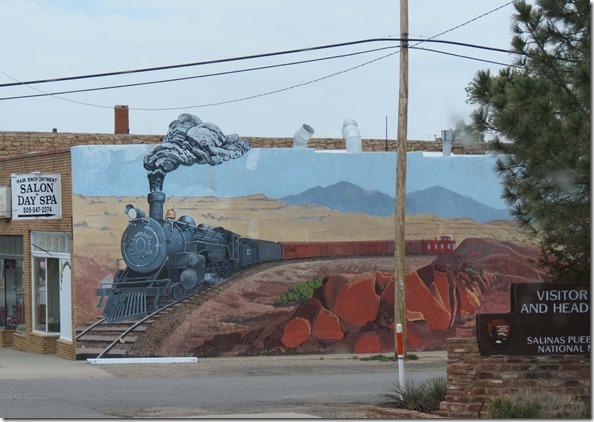 Mountainair train mural
