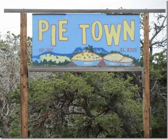 Pie Town sign
