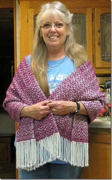 Terry heart shawl 2