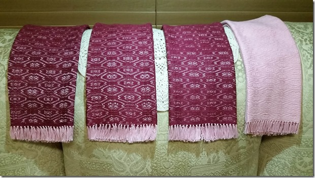 Towel set folded