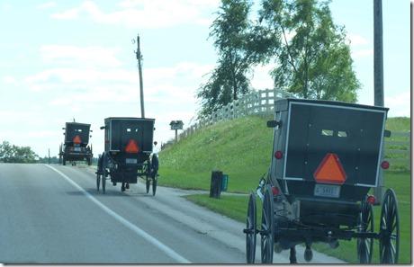 Amish buggy caravan