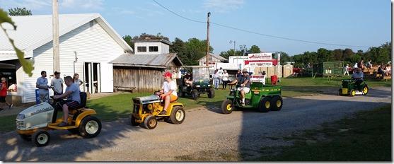 Garden tractor parade