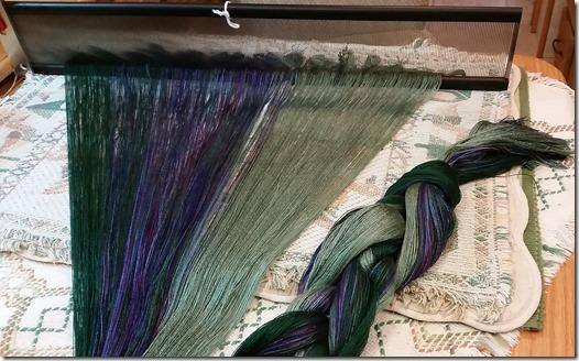 Yarn on reed