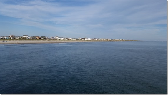 Beach view from pier