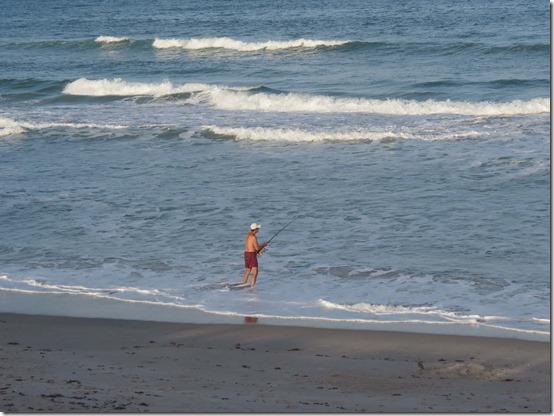 Surf fisherman