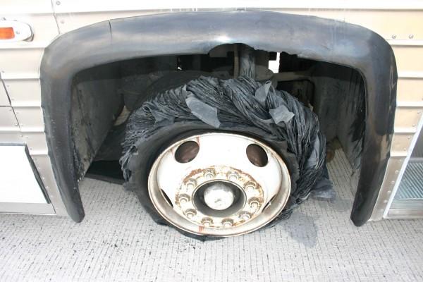 Bus tire blowout 2