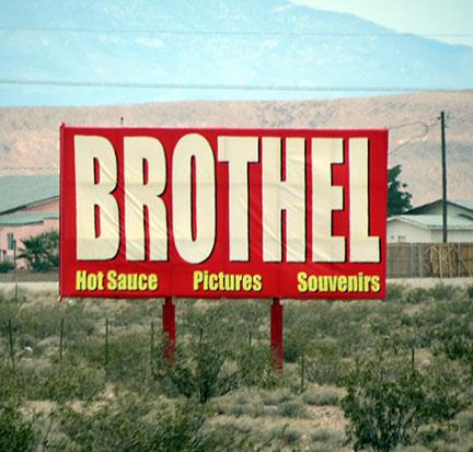 Brothel sign small