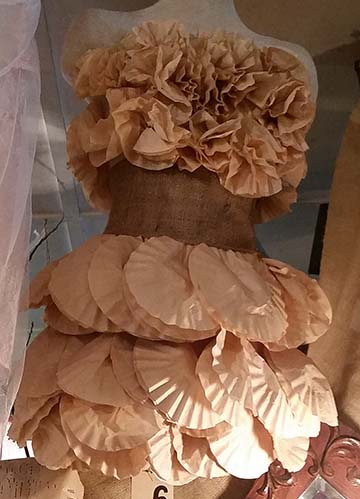 Coffee filter dress small