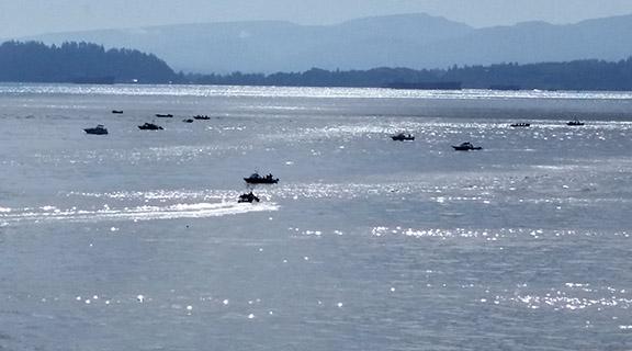 Salmon fishing boats small