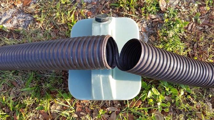 Broken sewer hose