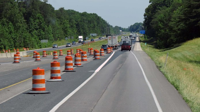 Road construction I65 Indiana 2