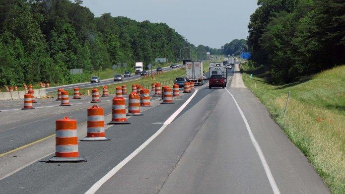Road construction I65 Indiana 2