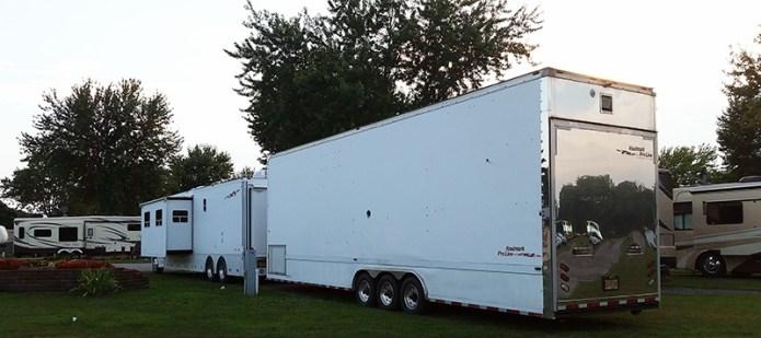 Haulmark and trailer
