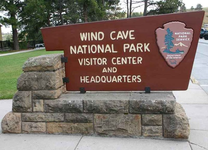 Wind cave sign