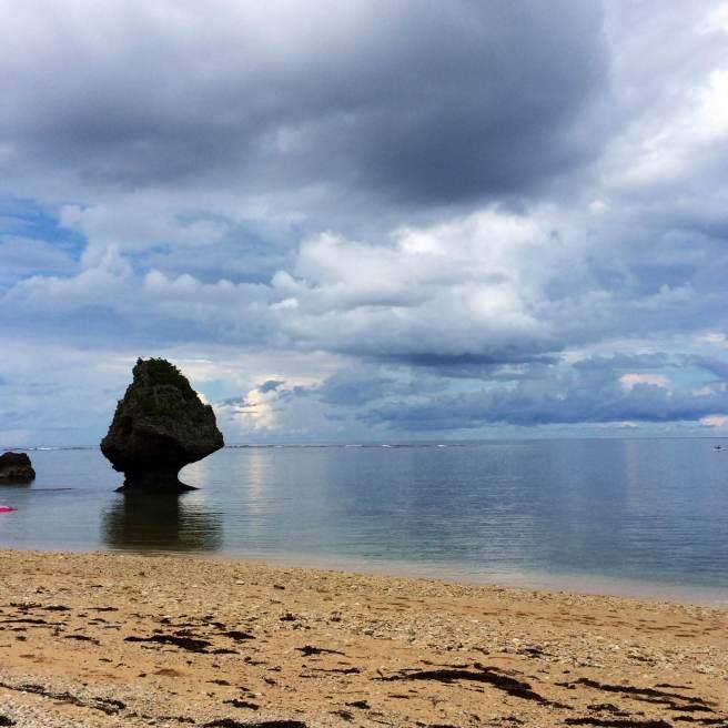Little mushroom rock at the Hidden Beach