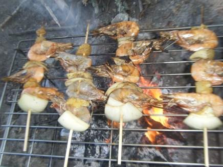 Shrimp Skewers on the Bar-B